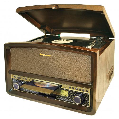 ROADSTAR HIF-1937 TUMPK Vintage Πικάπ/CD/USB/Cassette