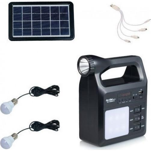 Ηλιακό Κιτ Φωτισμού- Φόρτισης Telco I-Solar IS-1388S (USB/FM/MP3)