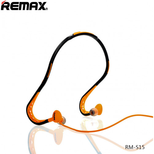 REMAX RM-S15 SPORTY Handsfree Black/Orange
