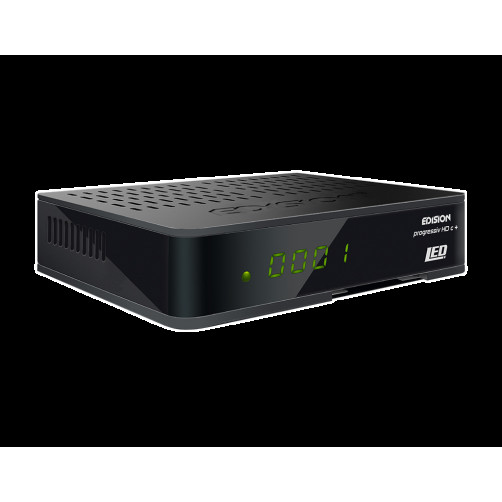 EDISION PROGRESSIV HDC+ NANO PLUS LED SAT RECEIVER Αποκωδικοποιη