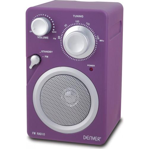DENVER TR-41C Ραδιοφωνα Purple