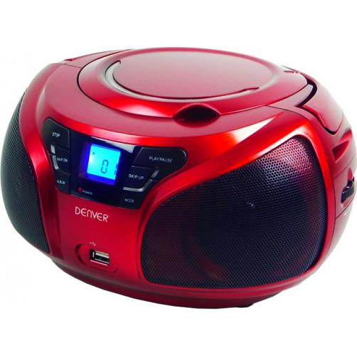 DENVER TCU-206 Φορητα Ραδιο-Cd Red