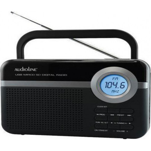 AUDIOLINE TR-471U Ραδιοφωνα Black/Silver