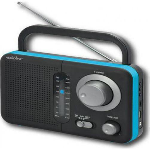 AUDIOLINE TR-412 Ραδιοφωνα Black/Blue