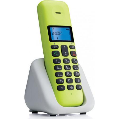 MOTOROLA T301 Ασυρματα Τηλεφωνα Lemon Lime