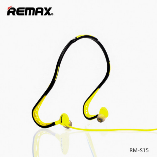REMAX RM-S15 SPORTY Handsfree Black/Yellow
