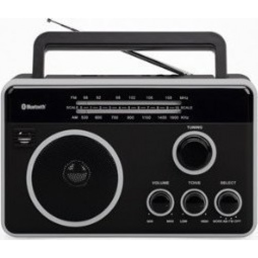 FELIX FTR-1617BT BK/SL Ραδιοφωνα Black/Silver