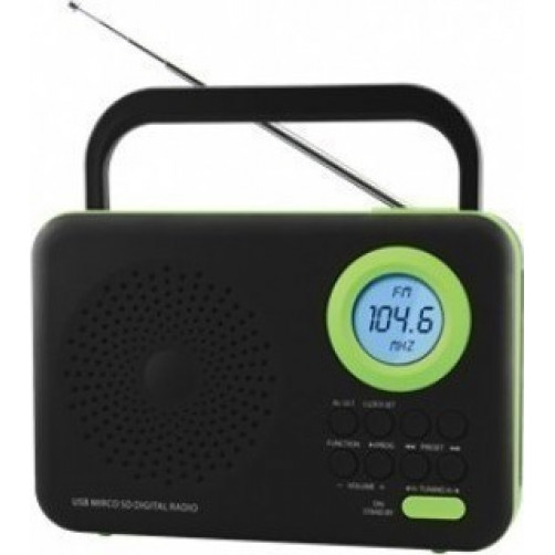FELIX FTR-1617BT BK/GR Ραδιοφωνα Black/Green