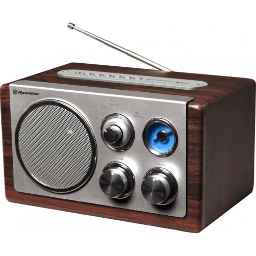ROADSTAR HRA-1345US USB/SD/MP3 Wood Micro-Mini Hifi