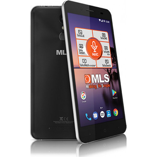 MLS COLOR FINGERPRINT 4G DUAL SIM Smartphones Black