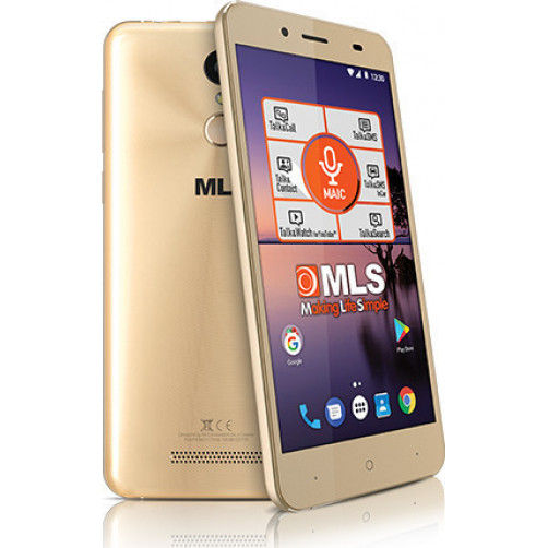 MLS COLOR FINGERPRINT 4G DUAL SIM Smartphones Champagne