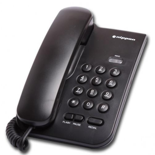 NIPPON NP2035 Ενσύρματα Τηλέφωνα Black