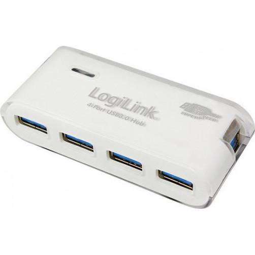 LOGILINK UA0171+PSU USB3.0 White Usb Hubs