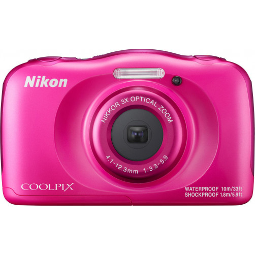 NIKON W100 BackPack Kit Pink Compact Camera