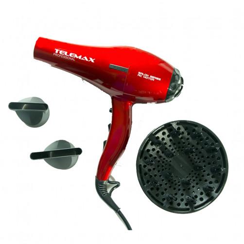 TELEMAX FK-8813 Salon Series AC motor Σεσουάρ μαλλιών Red