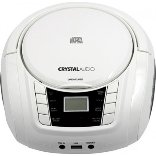 CRYSTAL AUDIO BMBU2W BOOMBOX WHITE Φορητά Ράδιο-Cd White