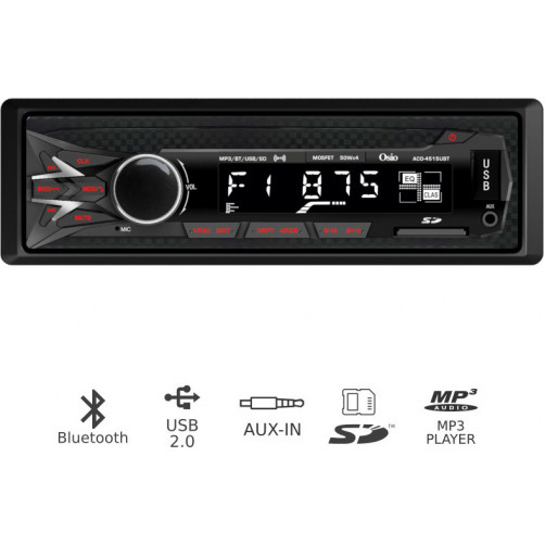 OSIO ACO-4515UBT Car Audio Player