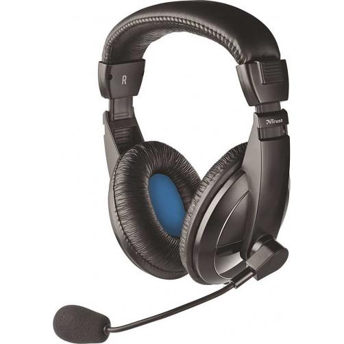 TRUST QUASAR (21661) Ακουστικά-Μικρόφωνα Black