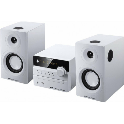 CRYSTAL AUDIO 3D-HIFI 360W Micro-Mini Hifi White