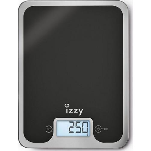 IZZY IZ-7004 BLACK MIRROR Ζυγαριές κουζίνας