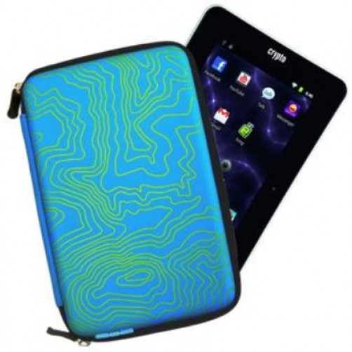CRYPTO W003880 TABLET CASE 7'' HARD ZEBRA ZIP AQUA