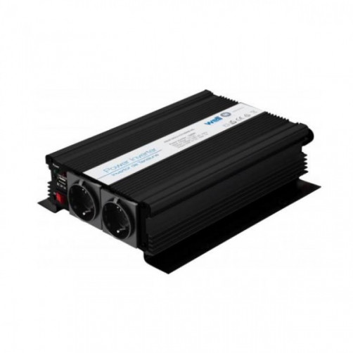 WELL Inverter 1000W 12V DC σε 220V AC με θύρα USB