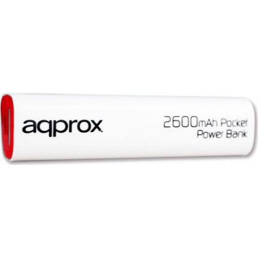 APPROX APPPB2600 2600mAh  Φορητός Φορτιστής Λευκό