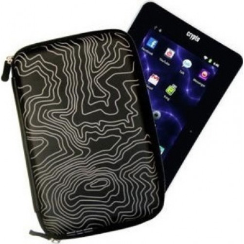 CRYPTO TABLET CASE 7'' HARD ZEBRA ZIP BLACK
