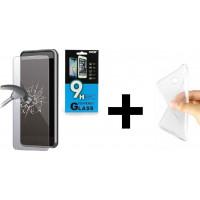 FRIENDS Samsung J6 Plus Θήκη σιλικόνης + Tempered Glass