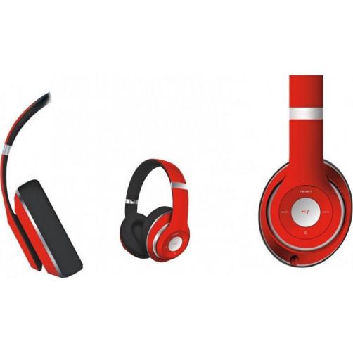 Ασύρματα Ακουστικά Bluetooth με Μικρόφωνο κόκκινα PLATINET FH0916R