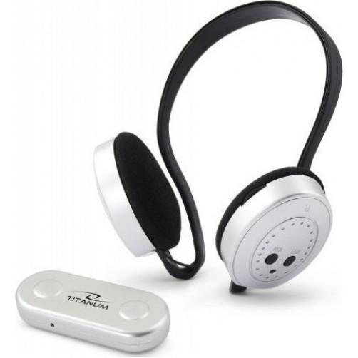 Aσύρματα ακουστικά με δέκτη ράδιο FM swing ασημίEsperanza TH111