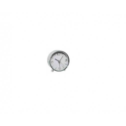 ALFAONE AM03 Ρολόι-Ξυπνητήρι White-Inox