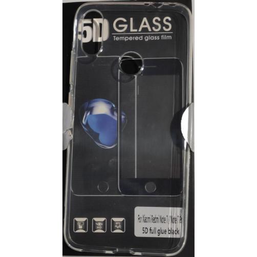 FRIENDS XIAOMI REDMI NOTE 7 Set Θήκη σιλικόνης και Full Face Glue Tempered Glass