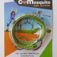 Αντικουνουπικό βραχιολάκι με φυσικο εκχύλισμα ευκάλυπτου COMosquito Safe Summer Πράσινο